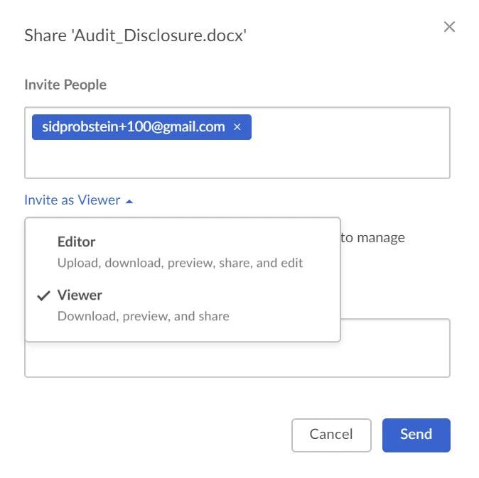 e-Share - Box share options