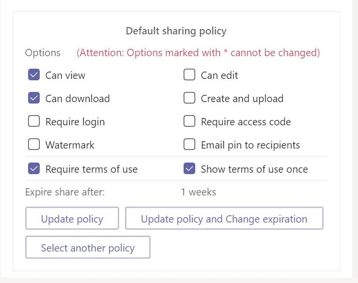 e-Share - Bot policy card