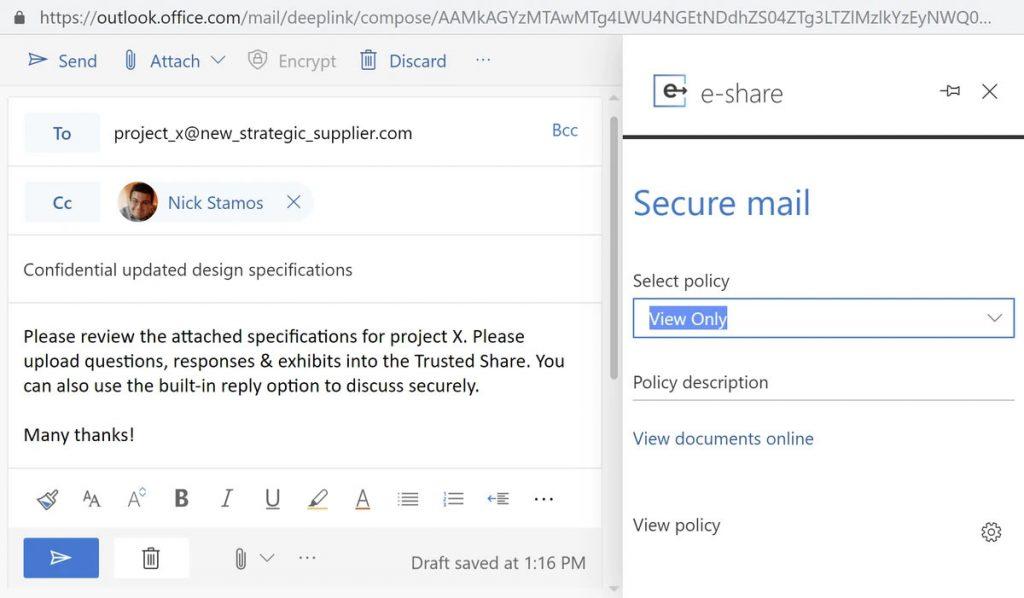 e-Share - Email confidential design