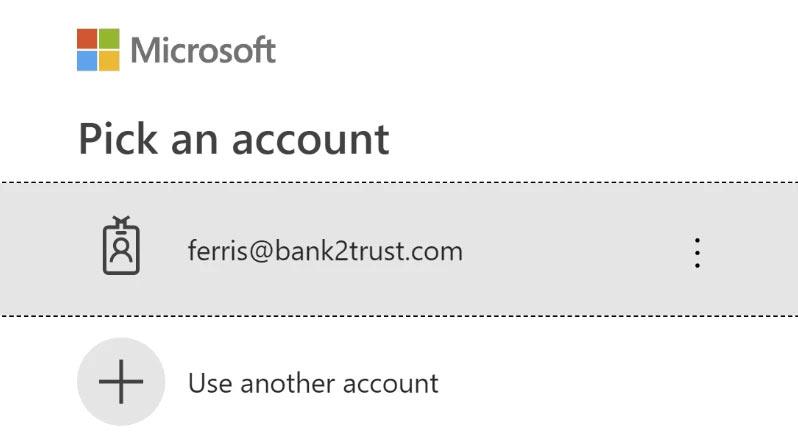 e-Share - OpenID pick account