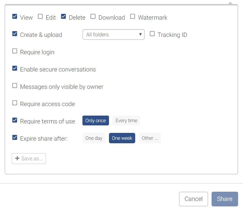 e-Share - Policy options