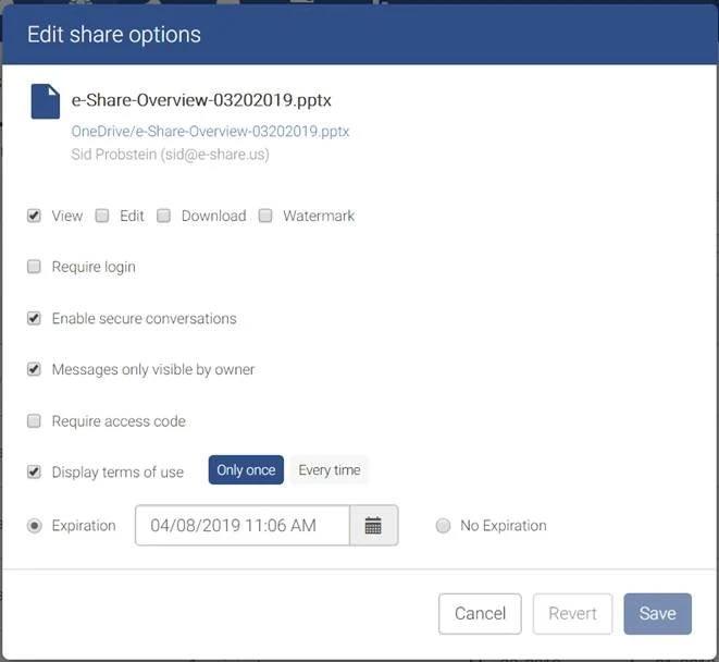 e-Share - TS conversation