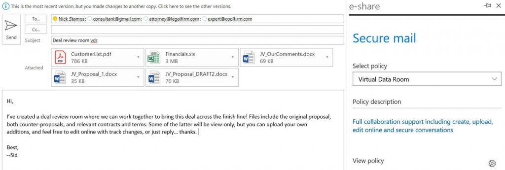 e-Share - VDR email