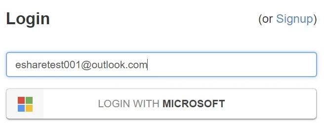 Login with Microsoft