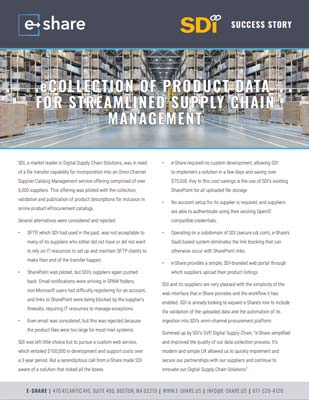 Success Stories- Front image - Supply Chain Manager